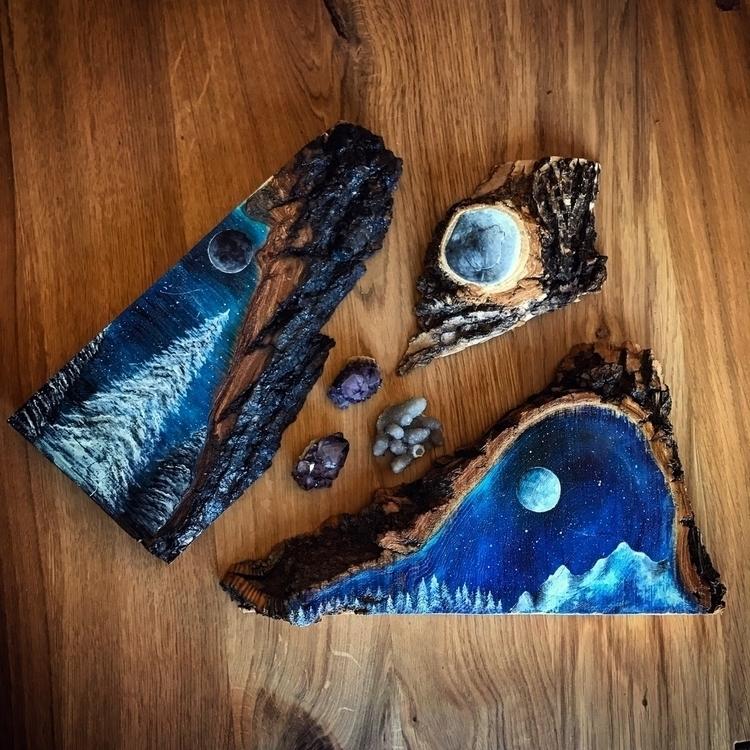 Wood pieces. 2 shop - art, painting - everjupiter | ello