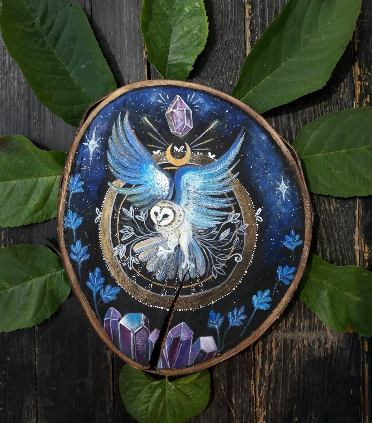 Flying barn owl:sparkles: shop - magicwood_creations | ello