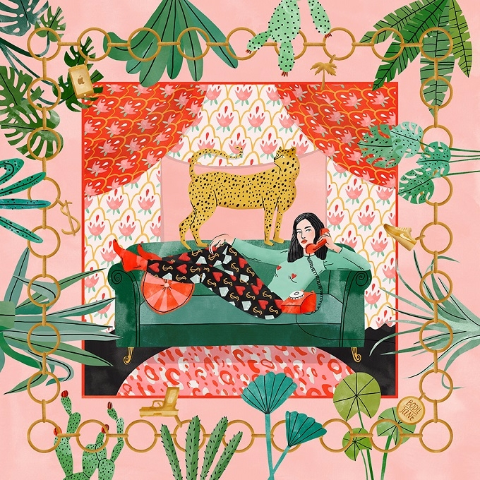 love Bodil illustrations slowly - sandraapperloo | ello