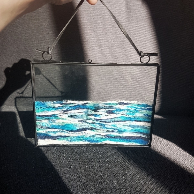 sea embroidery - fiberart, textileart - fullmetalneedle | ello
