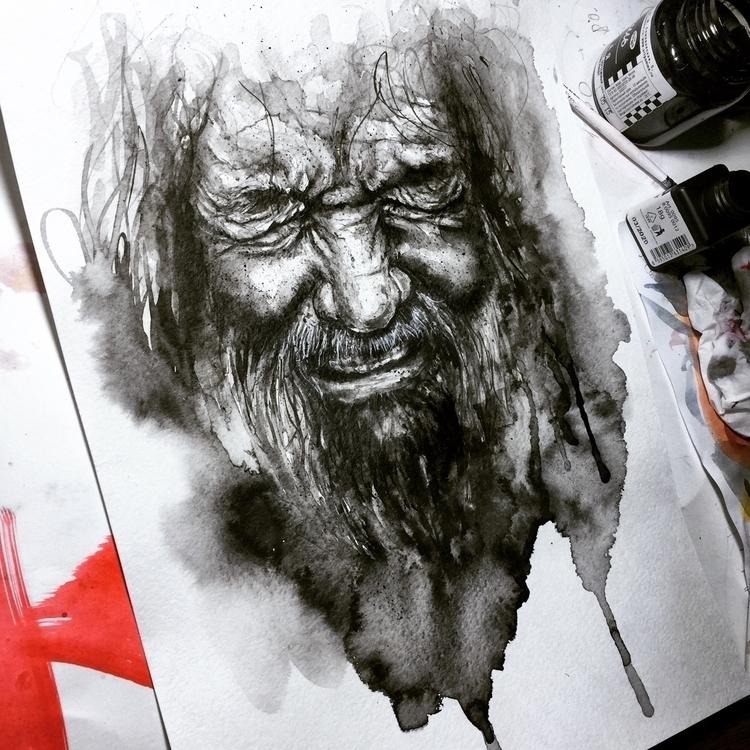 🖤 - inkdrawing, arte, artists, illustrator - ibreathart | ello