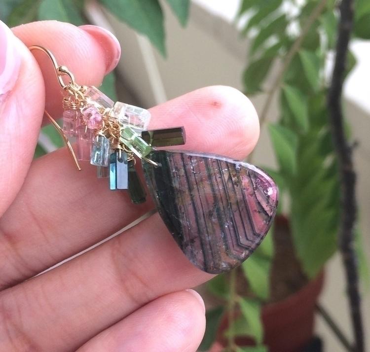 Liddicoatite Tourmaline slice e - jewelleryhaven   ello
