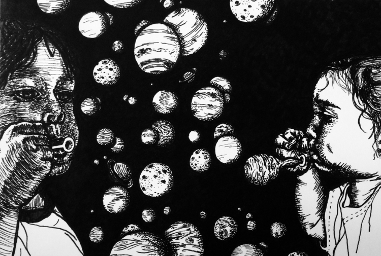 Space Bubbles Instagram - ink, bubbles - inklining | ello