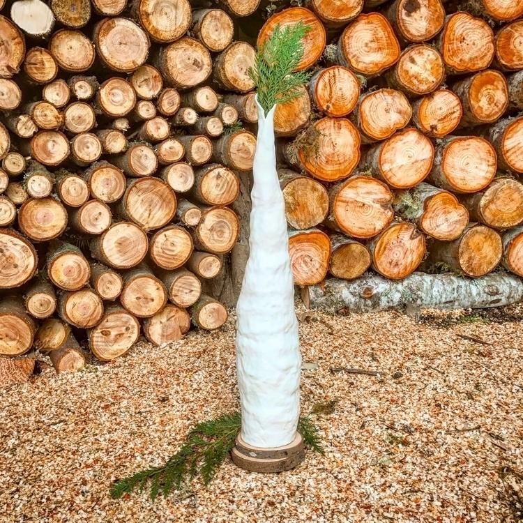 Tall white ceramic vase - highyieldstudio - highyieldstudio | ello
