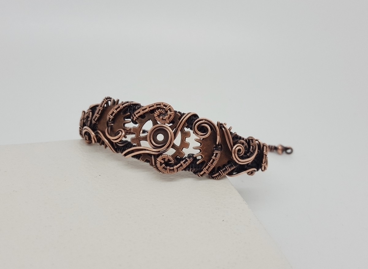 steampunk inspired copper brace - jakdawgems | ello