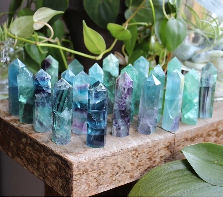rainbow fluorite towers coming  - allthatshimmerzz | ello