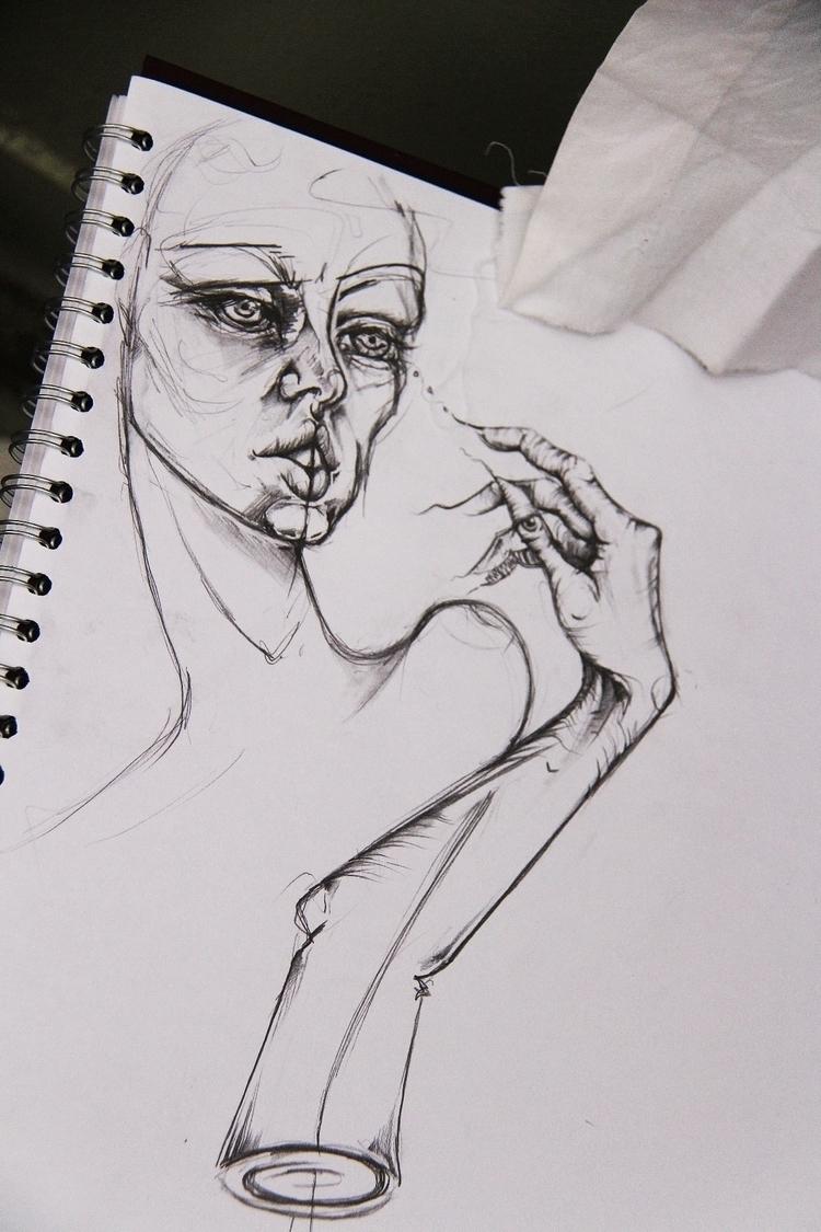 Sketchbook - portrait, art, drawing - femsorcell | ello