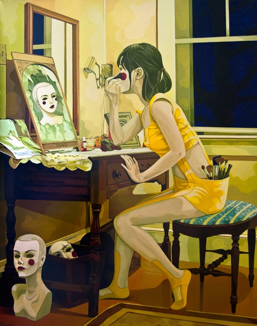 Perfect Face', Oil Canvas, 24 3 - enelojial   ello