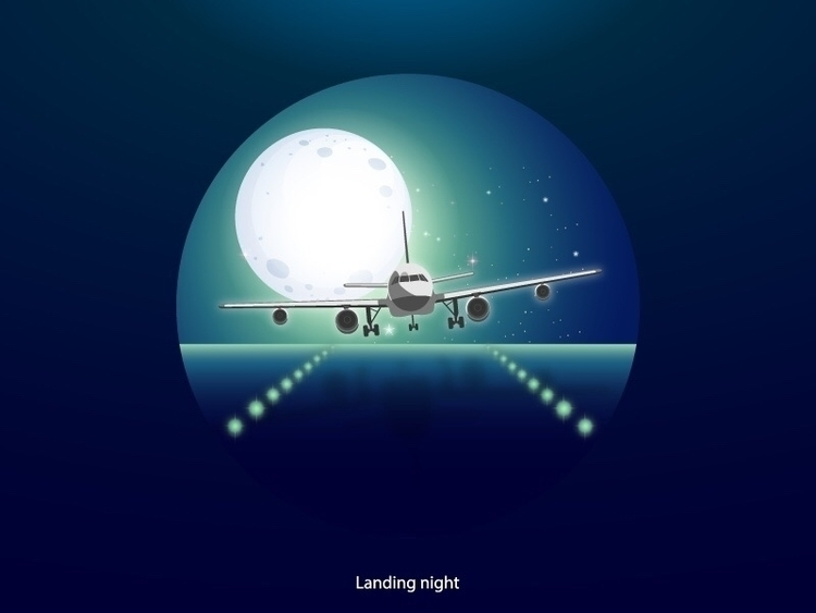 Landing night :airplane:️ - juliendreamdesign | ello