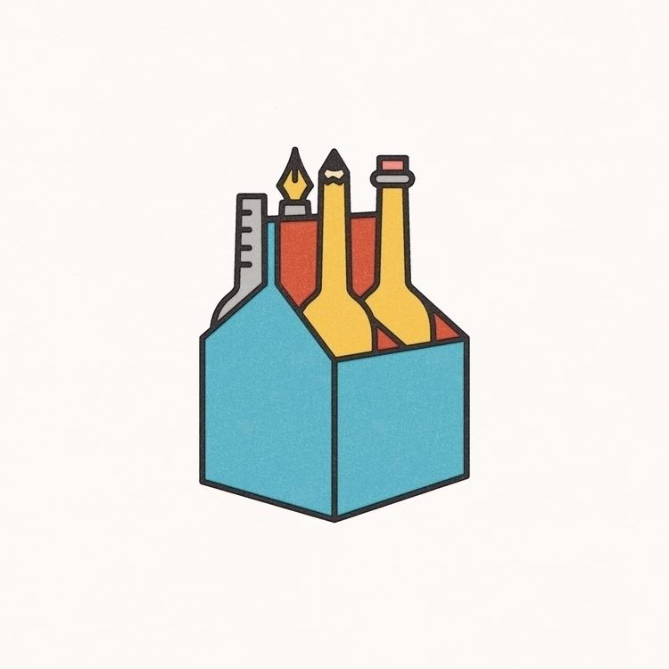 4-Pack - illustration, tools, beer - bryanbaltz | ello