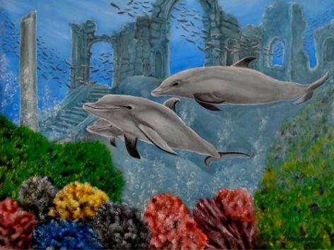 dolphins, underwater, aquatic - fayeanastasopoulou | ello