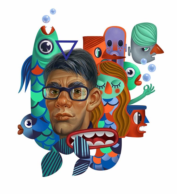 illustration, Faces, portrait - shustinakatya   ello