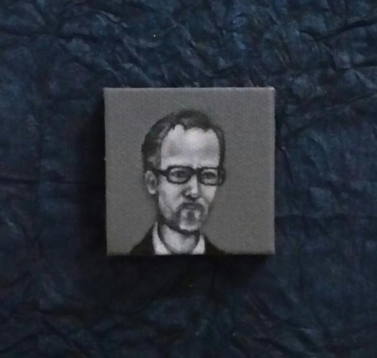 Mini oil painting portrait John - nora_ | ello