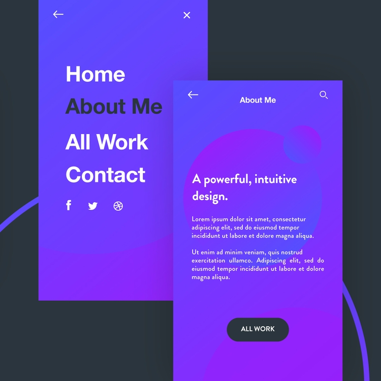 powerful, intuitive design. UI  - carballoeduar | ello