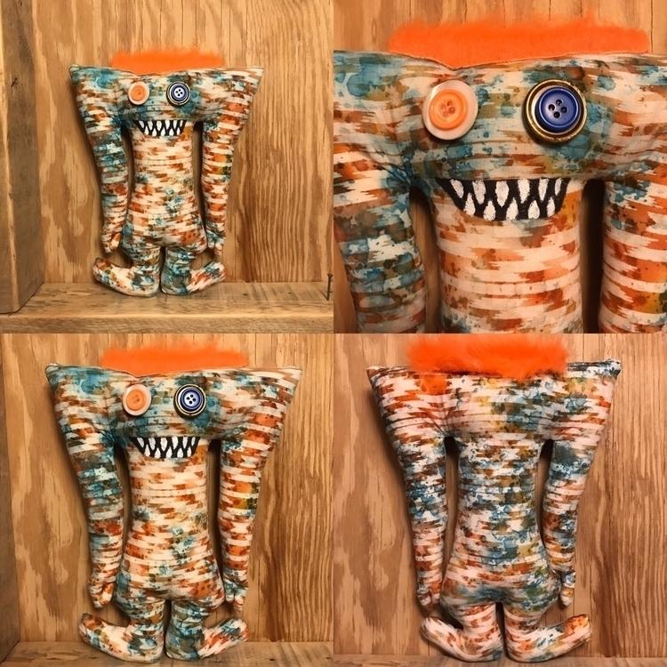 Orange Blue Birch Tall Monster  - tykesanimalkingdom | ello