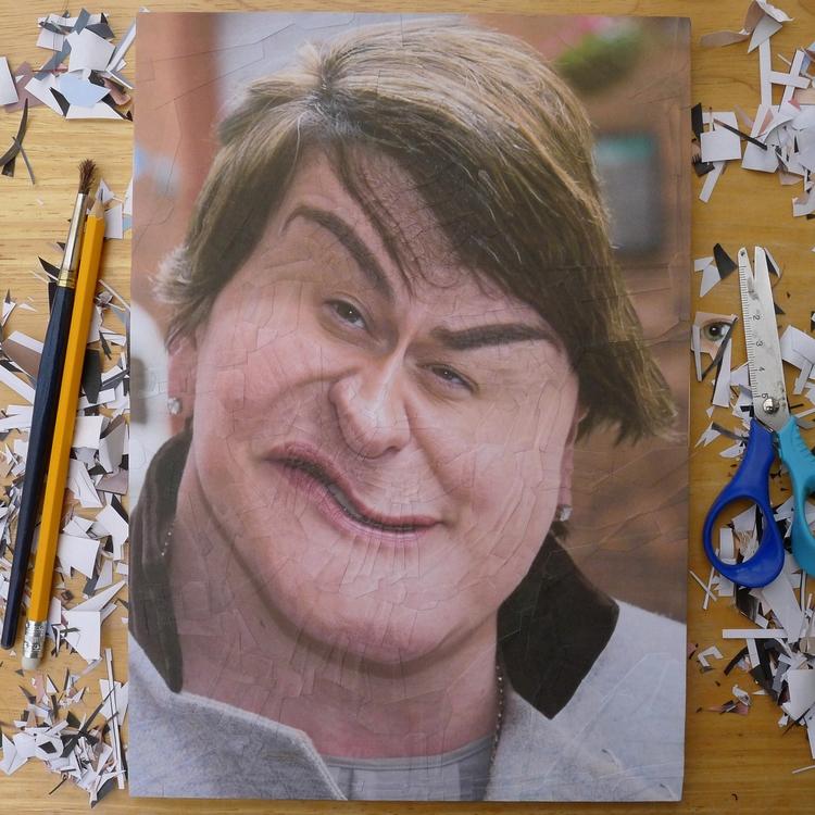 Arlene Foster paper collage pan - loladupre | ello