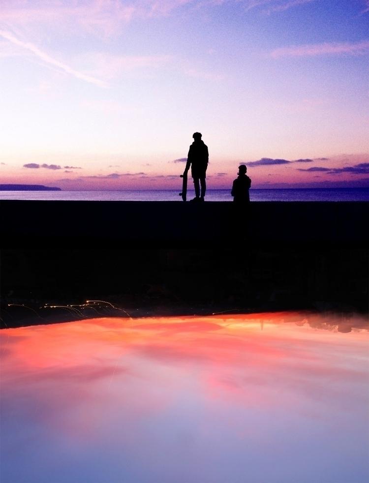Sunset skaters - photography, sunset - femsorcell | ello