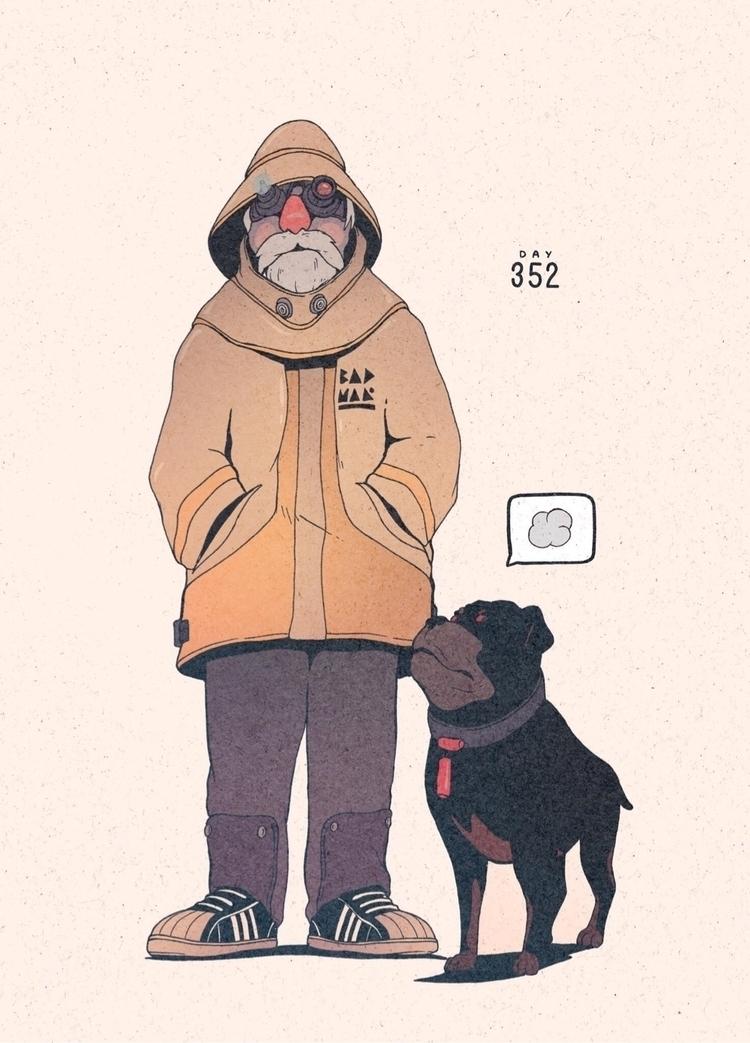 Day 352/365: Friends - illustration - 1sles | ello