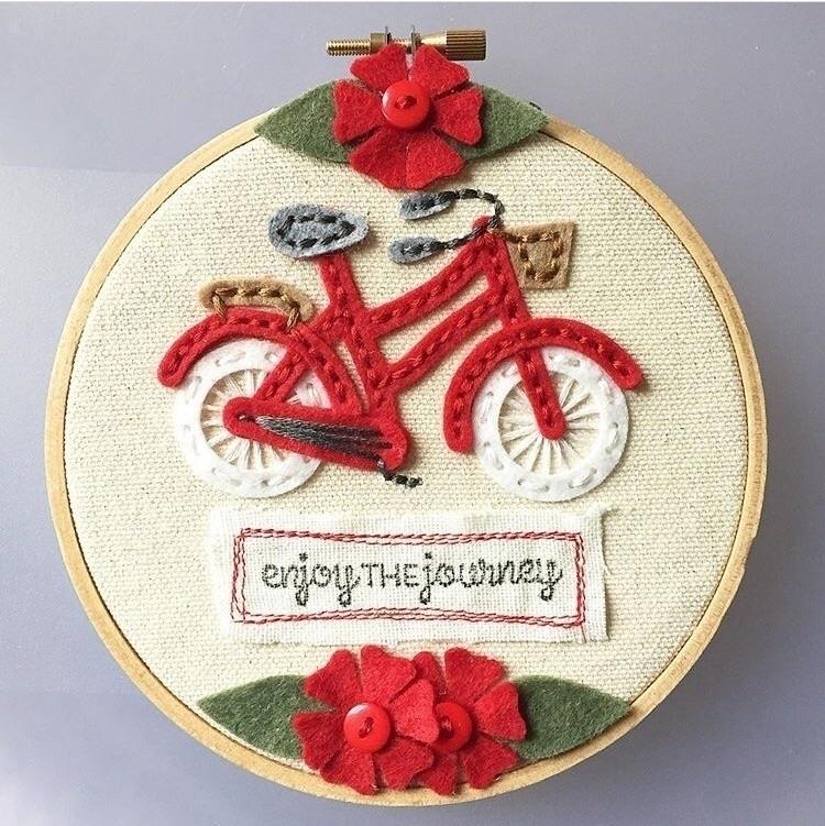 Enjoy - diecutting, redbike, funwithfelt - yanadesigns   ello