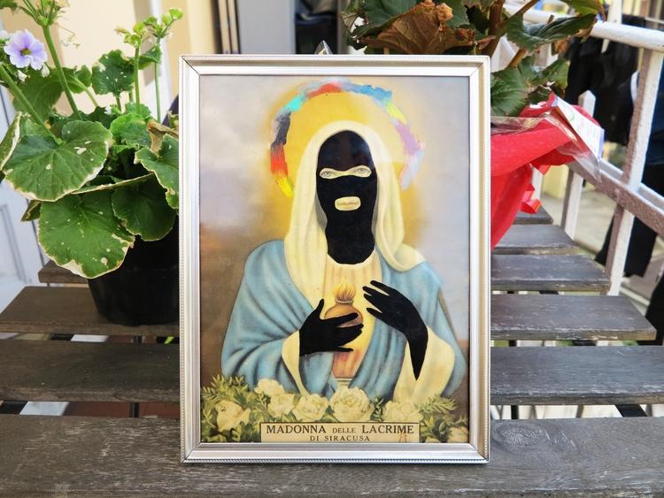 Balaclava Mary - jesus, christ, bit - missingsock | ello
