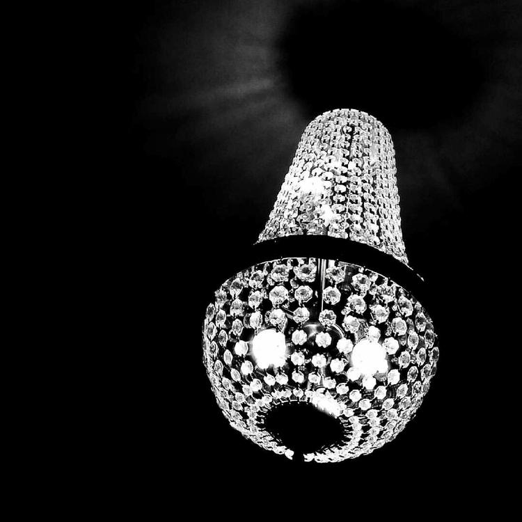 chandelier, blackandwhite, light - passionately_bored | ello