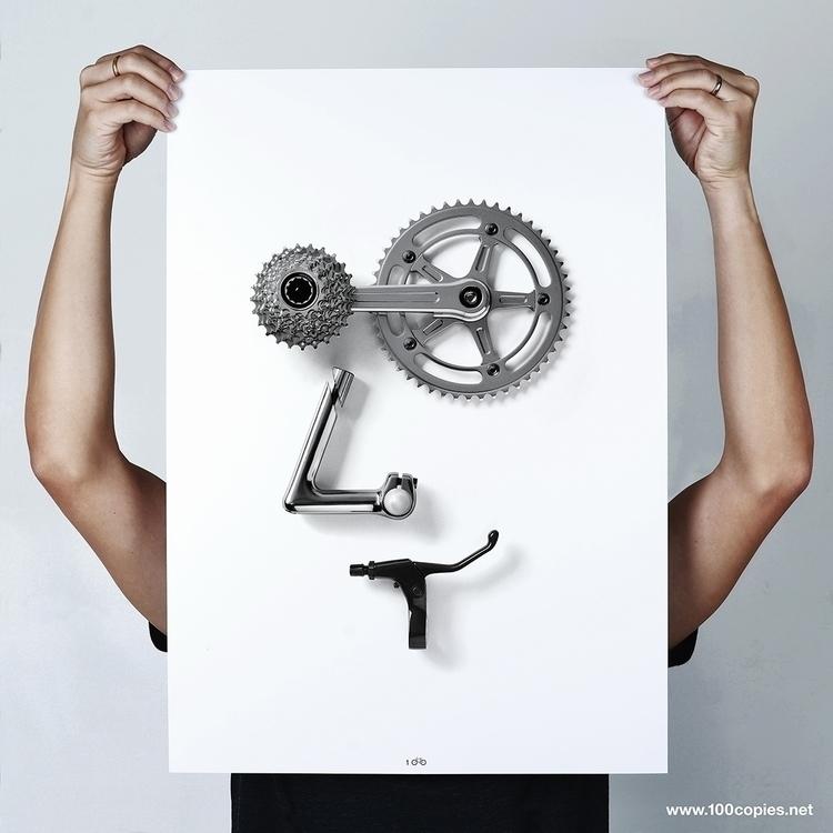 Design 28 - Bikemoji GR8 series - 100copies_bicycle_art | ello