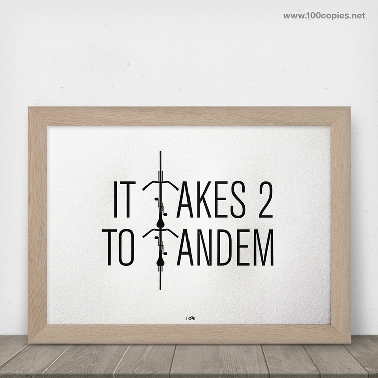 Design 33 - Takes 2 Tandem Insp - 100copies_bicycle_art | ello