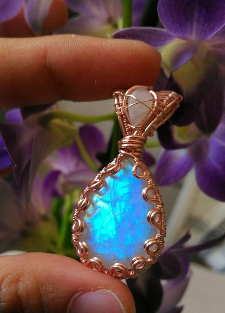 Indian legend rainbow moonstone - handmadejewelsbyfede | ello