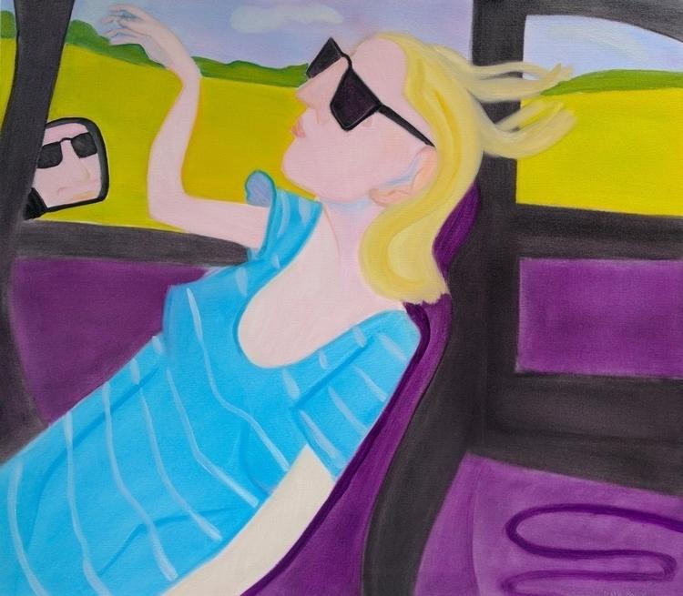 Road Trip Oil/canvas, 44x50 - art - markbarry   ello