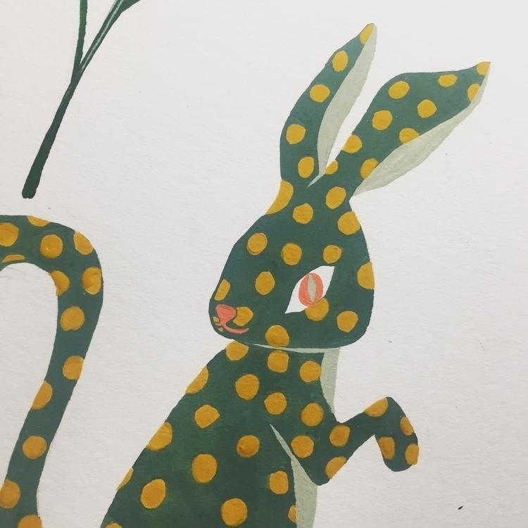 Rabbit Ball - illustration, drawing - popil-art | ello