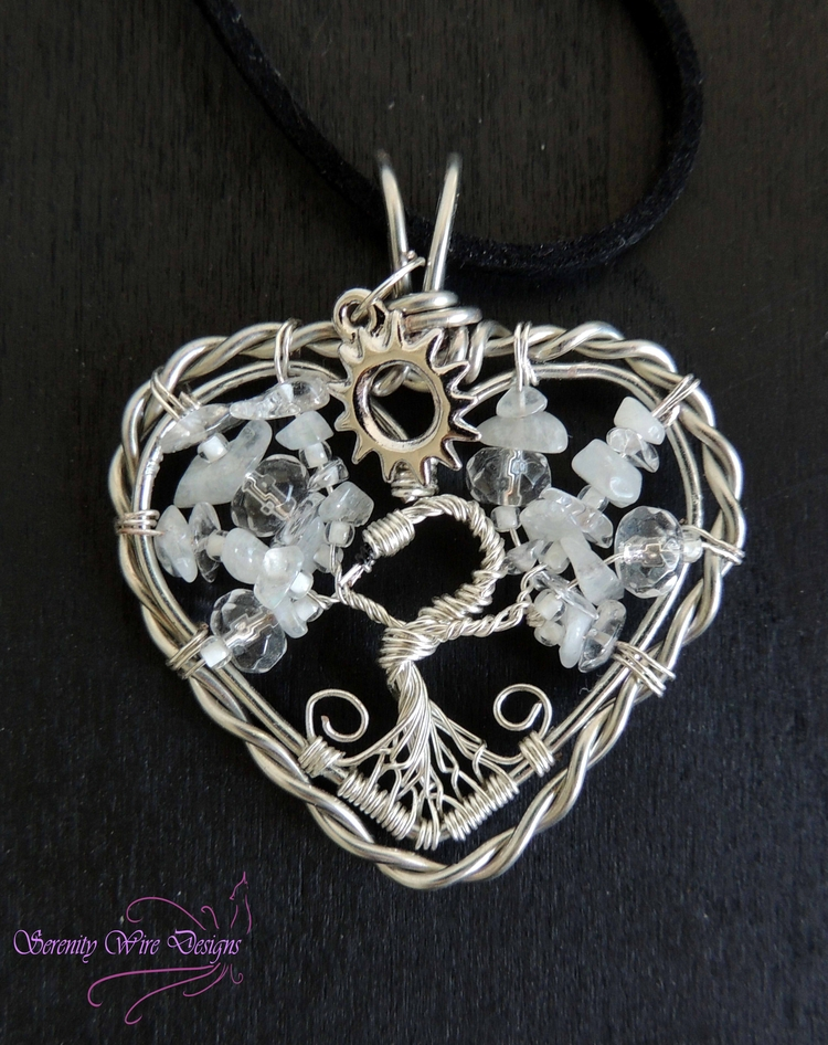Swan Lake themed tree life pend - serenitywiredesigns | ello