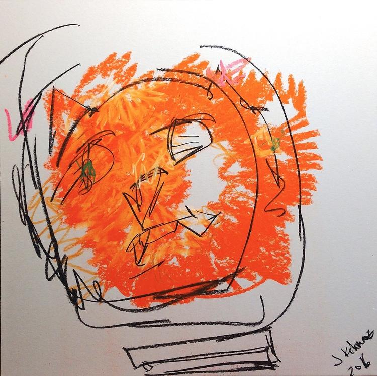 Space Tiger, 2016 | chalk charc - jkalamarz | ello