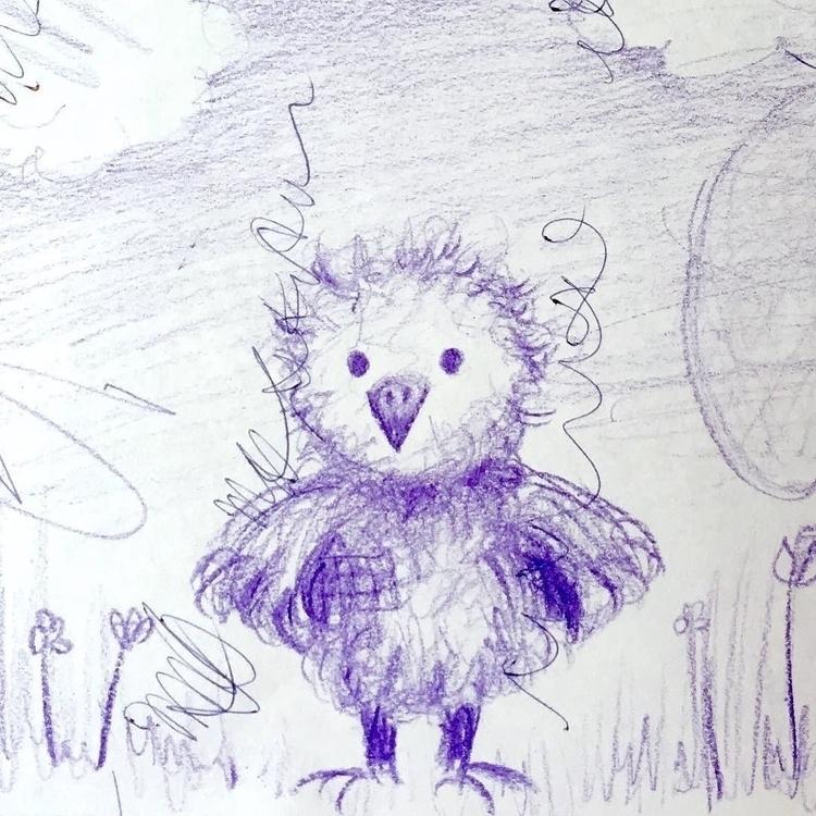 funny chick - illustration, doodle - borianag   ello