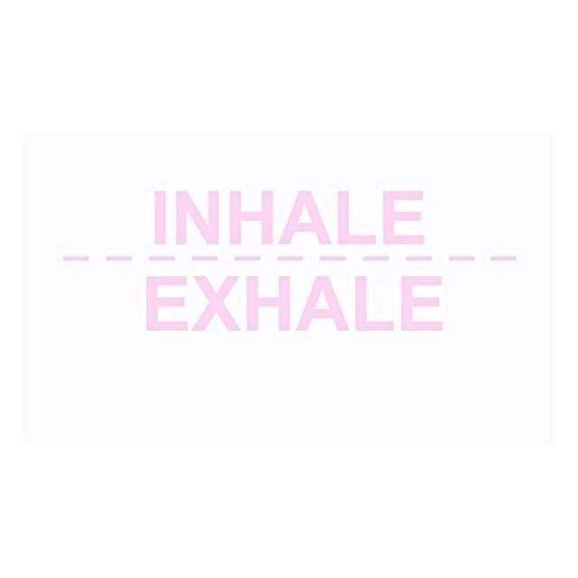 breath guide Inhale. Exhale. Fo - berrynadine | ello