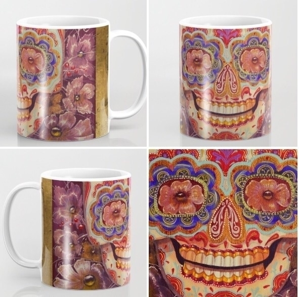 Sugar skull mug. shop - sugarskull - trinkl   ello
