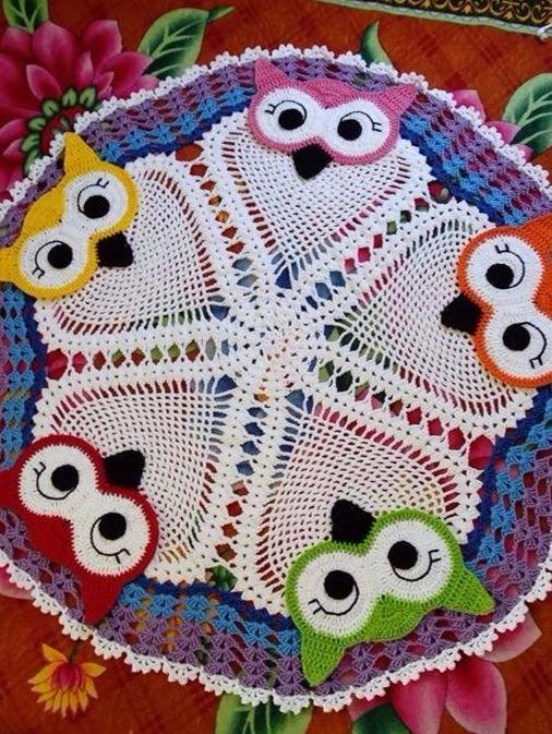beautiful girls owl rug ... guy - carlabreda   ello