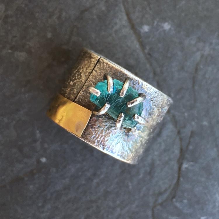 ring sterling silver, 14K gold  - artdi | ello