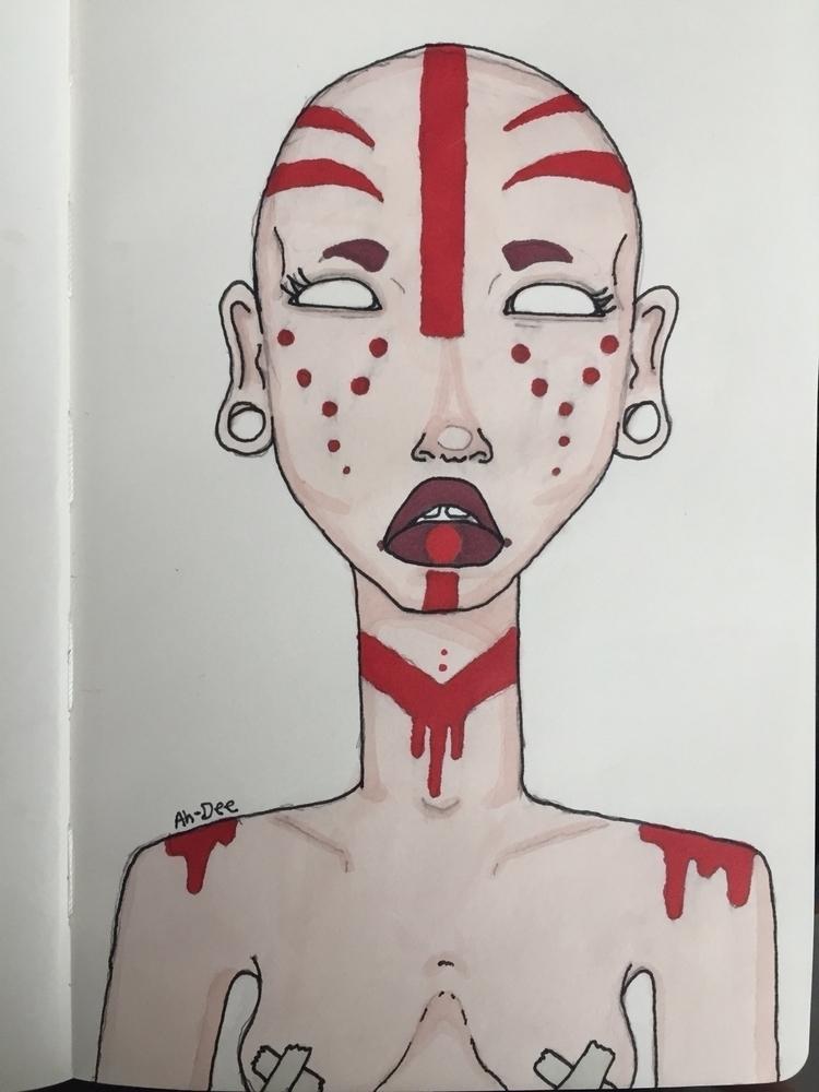art, ahdeeart, markerart, markers - ahdee | ello