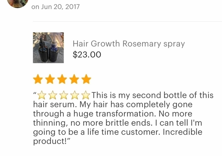 Review hair growth spray leaves - dreamersapothecary | ello