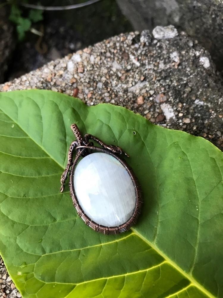 Moonstone pendant wrapped coppe - earthwisdomelements | ello