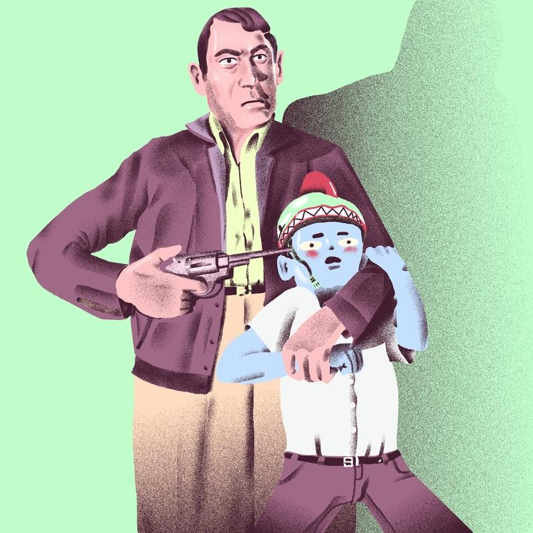 Hostage - illustration, illustrator - richchane | ello