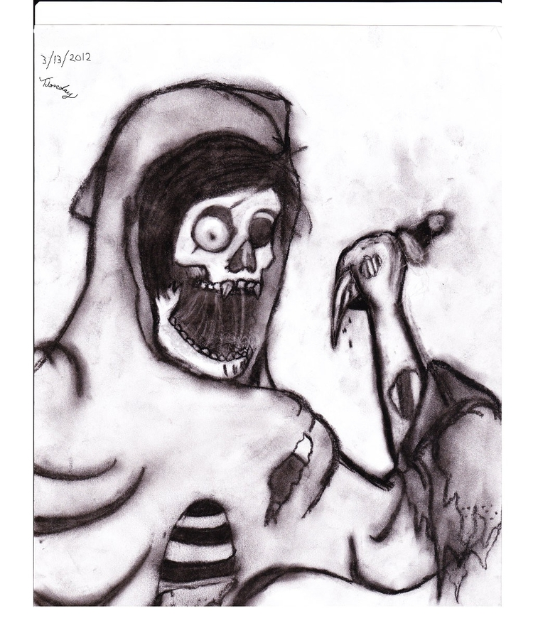 zombie drew coal. arm facing wr - tiorday | ello