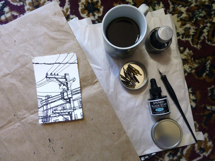 making tiny drawings morning se - ericdyer | ello