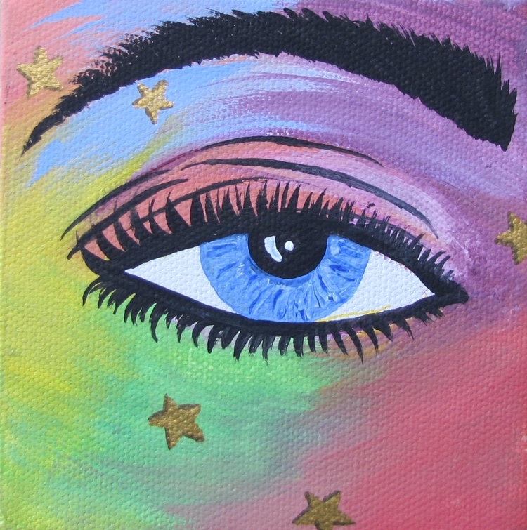 Starry Eyed - colorful, eye, stars - thehkexperience | ello