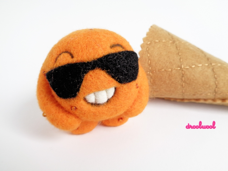 Scoopsie, handmade Designer Toy - droolwool | ello