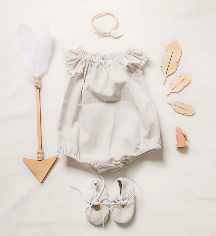 Pebble romper organic cotton - rubyowl_babywear | ello