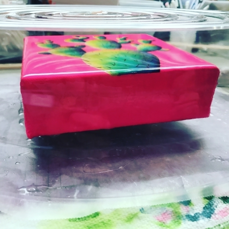 Neon pink cactus coat resin :he - art_venom | ello