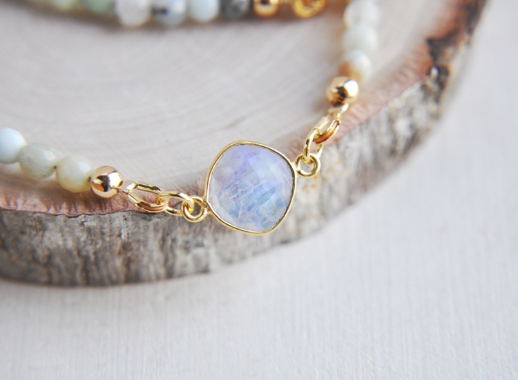 moonstone, amazonite, necklace - fawinginlove | ello