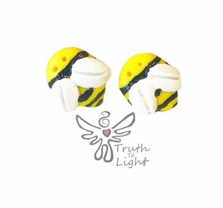 Bee Polymer Clay choice ClipOns - truth_to_light | ello