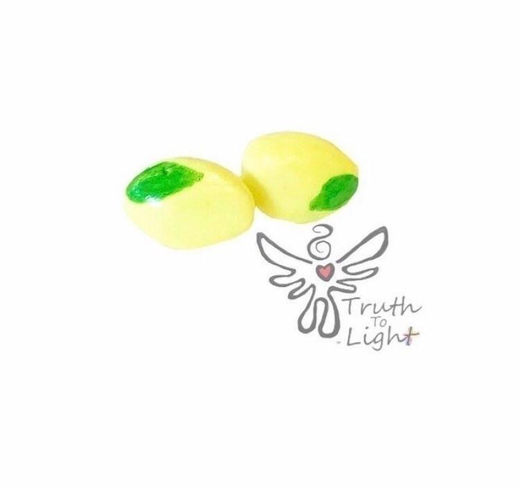 Lemon Polymer Clay Stud Earring - truth_to_light   ello